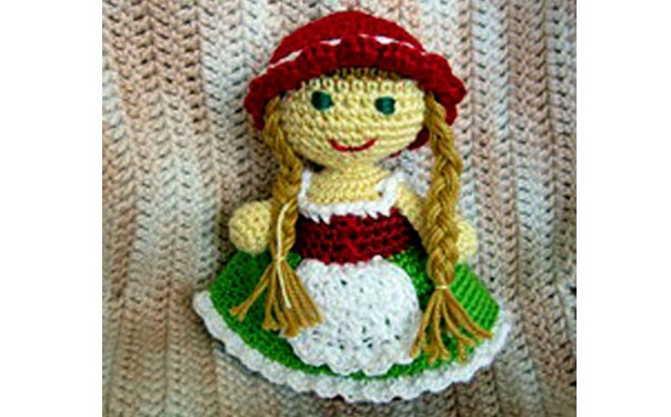 Вязаная кукла. Красная шапочка. Крючком. Описание