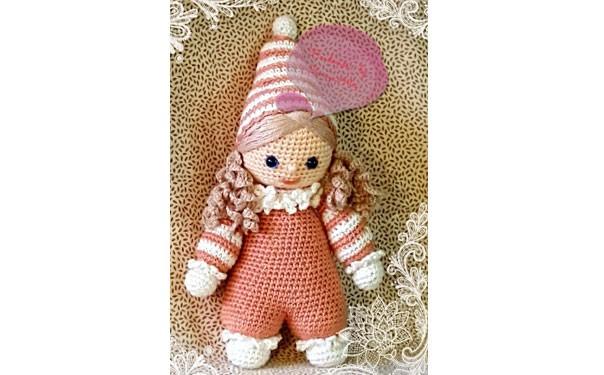 Вязаная кукла. Приятный ребенок. Крючком. Описание
