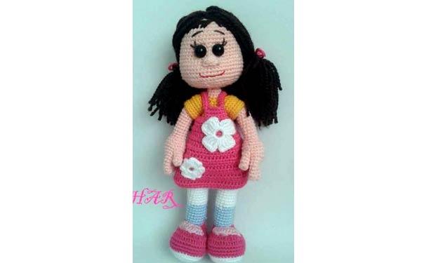 Вязаная крючком кукла Нило. Описание