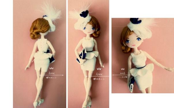 Вязаная крючком кукла Енни. Описание
