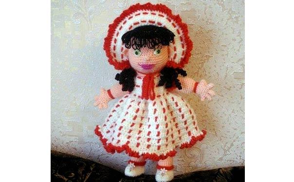 Вязаная крючком кукла Gingle. Описание