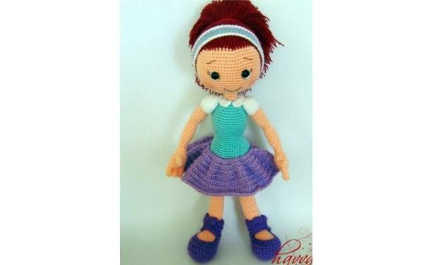 Вязаная кукла крючком алисия