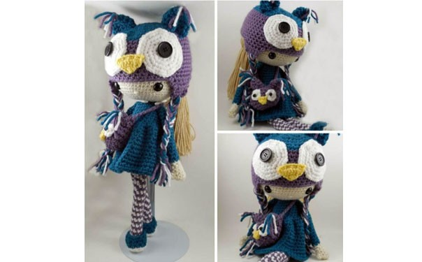 кукла Клер в костюме совы