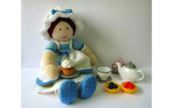 Вязаная кукла Джемайма Джейн. Описание