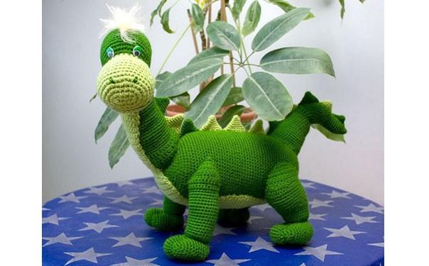"""Вязаная крючком игрушка """"Динозаврик Леша"""". Описание"""