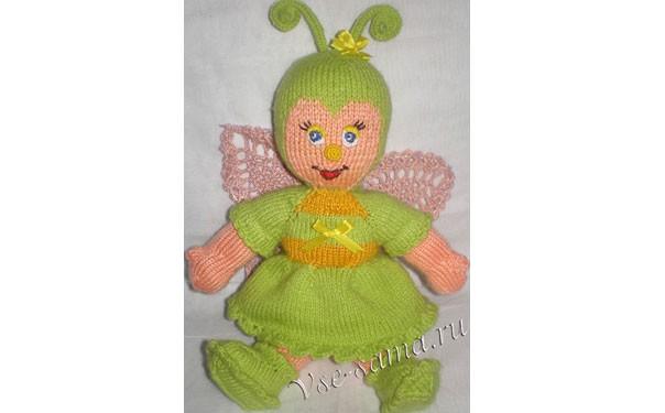 Вязаная кукла-бабочка. Описание