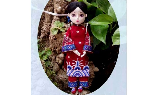 """Вязаная крючком кукла """"Японка"""". Описание"""