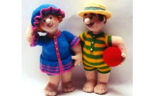 Куклы-купальщики Альберт и Мабель