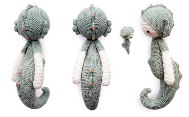 Вязаная игрушка. Морской конек. Описание