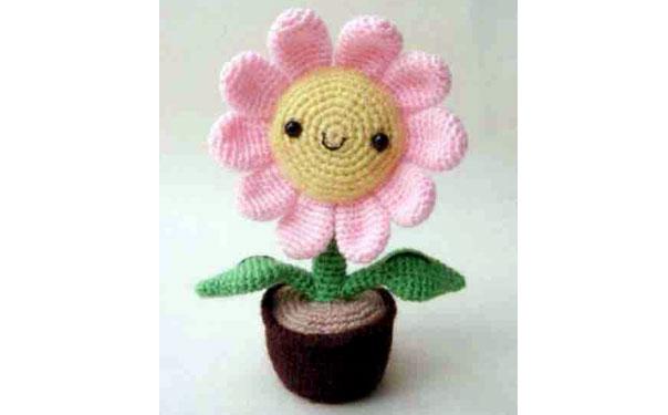 Солнечный цветок в горшке. Схема