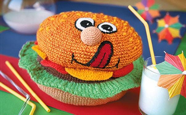 Вязаный крючком гамбургер. Схема