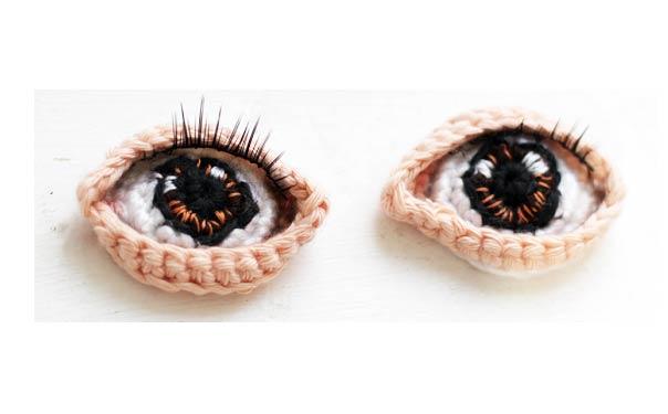 Глазки для вязаных кукол своими руками 27