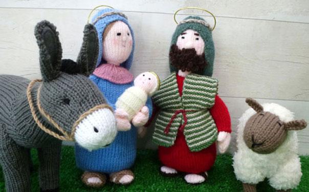 Рождественские вязаные куклы. Иосиф и Мария. Описание