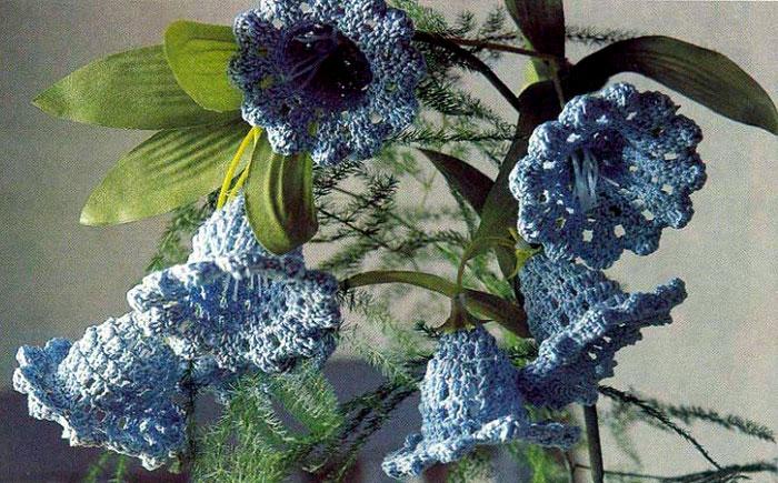 Цветы колокольчики. Схема вязания