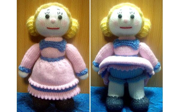 Вязаная кукла. Спицами. Описание