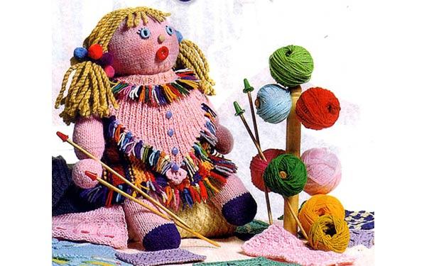 Вязаная кукла Мариша. Описание. Спицами
