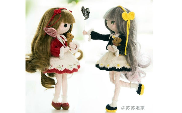 Вязаная кукла по имени Мора. Схема