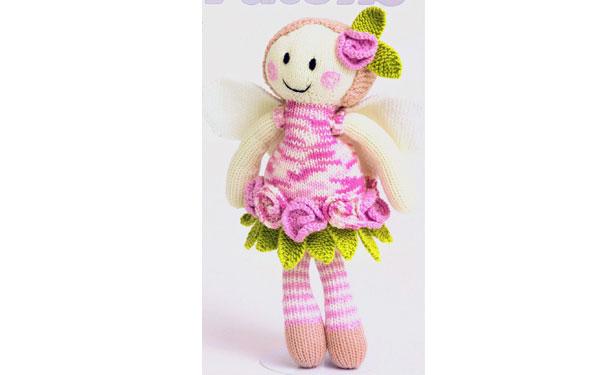 Вязаная спицами кукла Роза. Описание