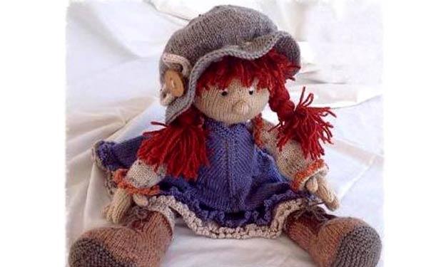 Вязаная кукла Мэйбл. Описание. Спицами