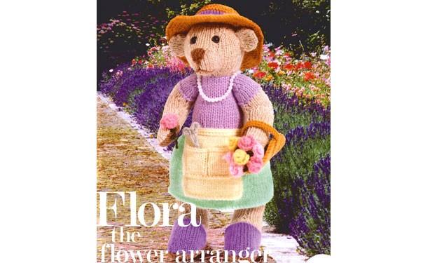 Вязаная медведица-цветочница. Описание