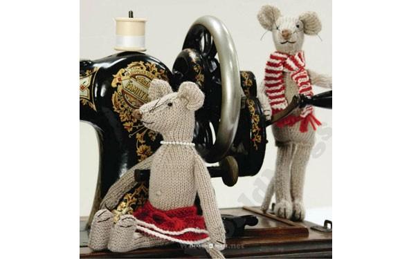 Вязаные мышки Фред и Элис. Описание