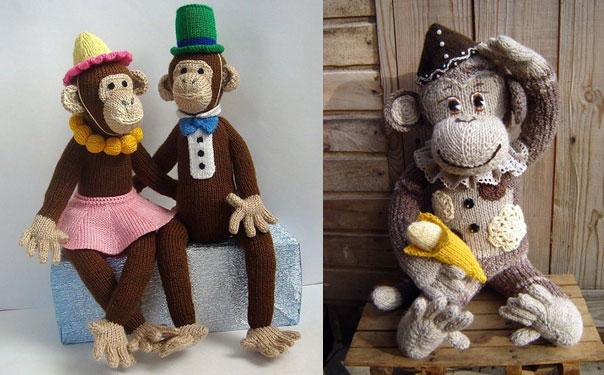 Вязаная обезьянка. Описание