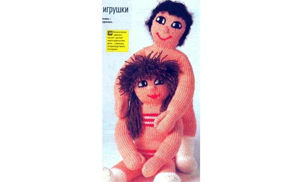 Вязаные куклы Он и она. Описание