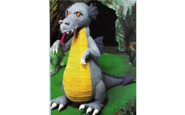 Вязаный Озорной дракон. Описание. Спицами