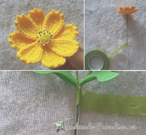 Полевые цветы крючком. Схема