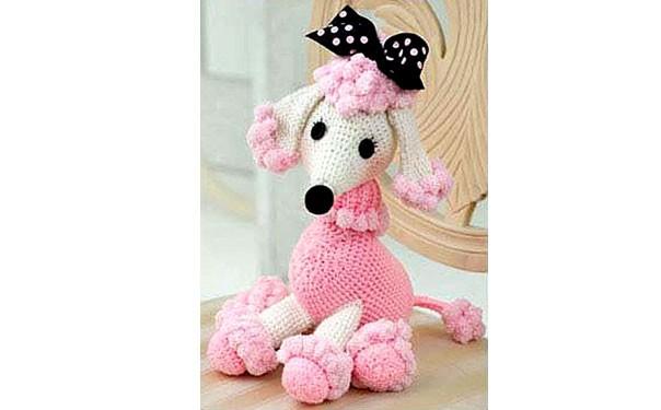 """Вязаная собака """"Розовый пудель"""". Описание"""
