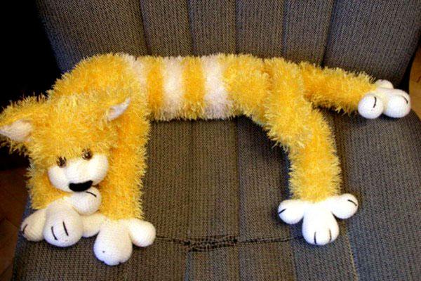 """Подушка-игрушка """"Пушистый кот"""". Описание"""