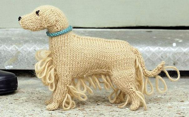 Вязаная собака Золотистый ретривер