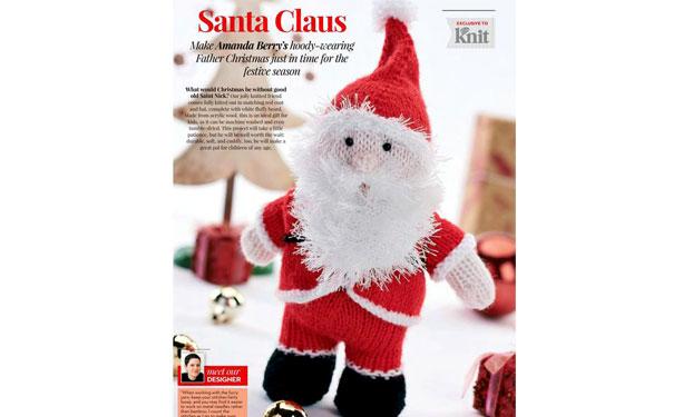 Вязаный спицами Санта Клаус. Описание