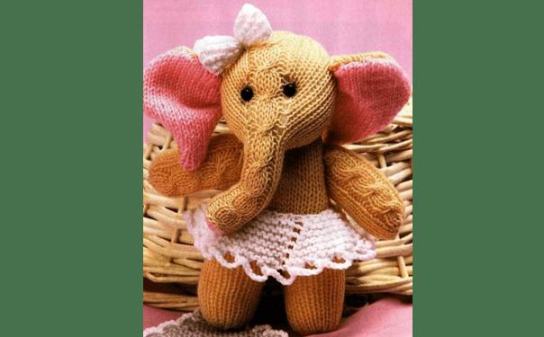 Вязаная спицами слониха Мэри. Описание