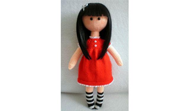 Вязаная кукла Сьюзен. Спицами