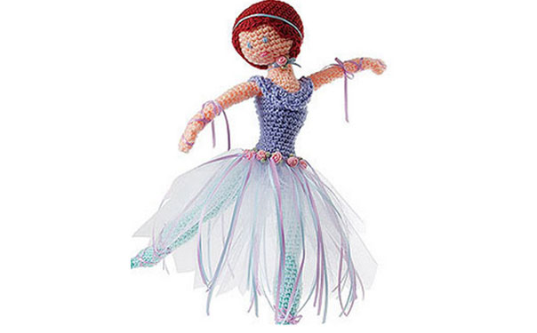 Вязаная кукла Балерина. Схема