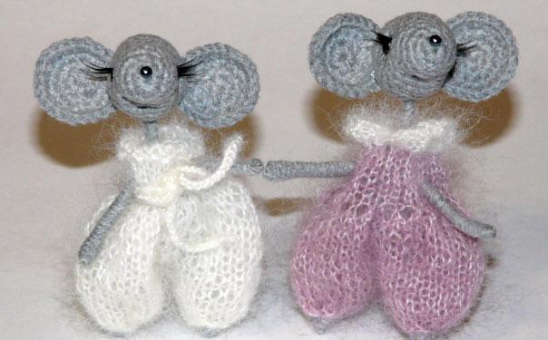 Вязаные мышки-малышки. Схема