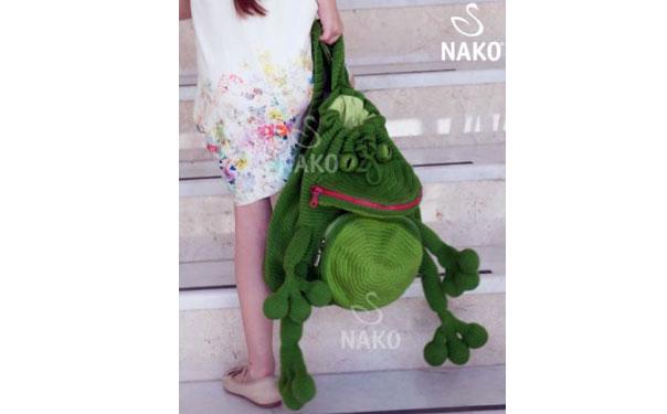Вязаный рюкзак-лягушка. Схема