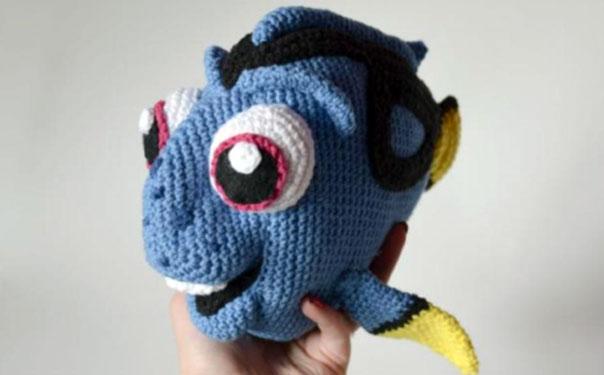 Вязаная рыбка Дори. Схема