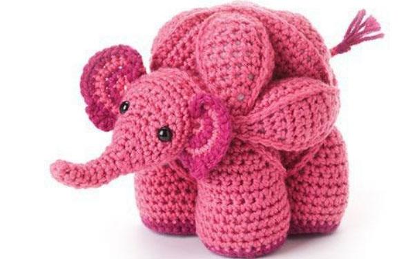 Вязаный слон-пазл. Схема