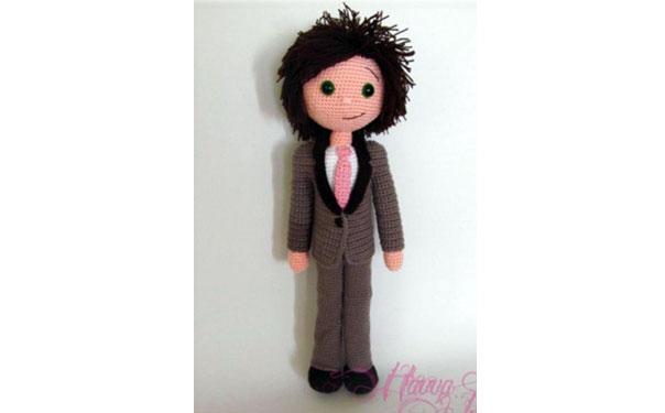 Вязаная кукла-жених. Схема