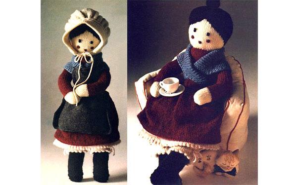 """Вязаная спицами кукла """"Бабушка"""". Описание"""