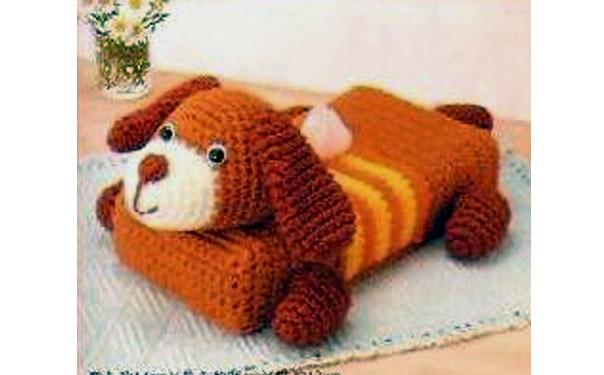 """Вязаный коврик-стульчик """"Собака"""". Схема"""