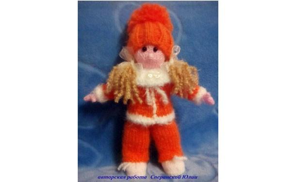 Вязаная кукла Алька. Мастер-класс