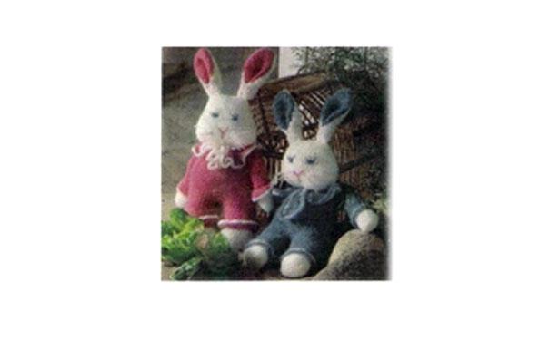 Вязаные зайцы: миссис и мистер. Описание
