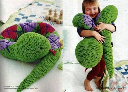 """Игрушка-подушка """"Змея"""". Схема"""