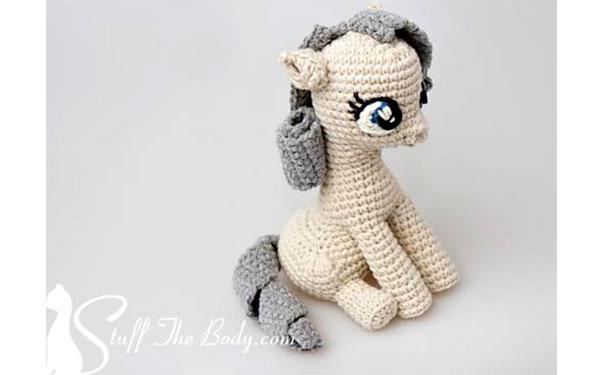 Вязаная Сидящая пони. Схема