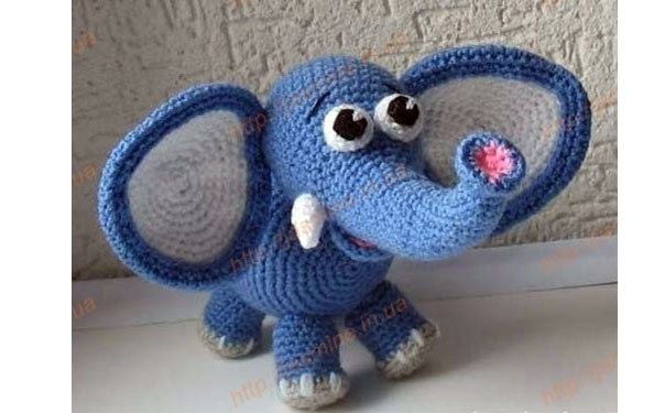 Вязаный слоненок Янина. Схема