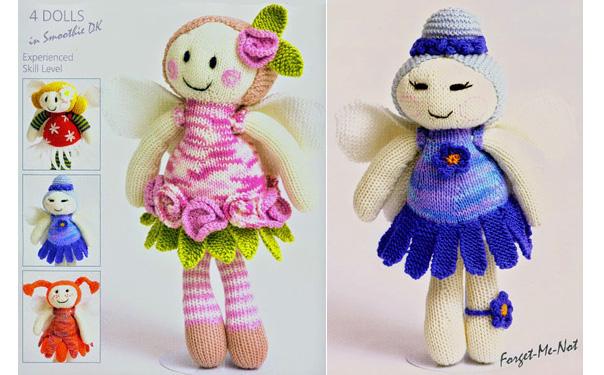 Четыре вязаные куклы. Описание