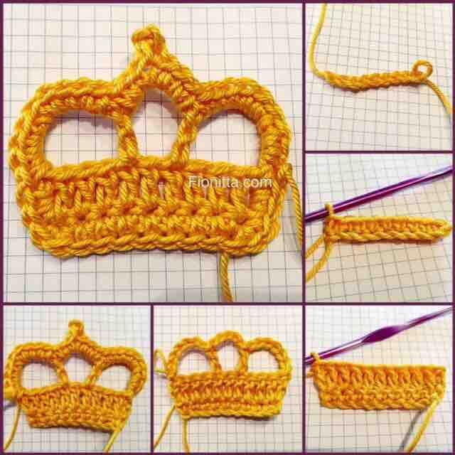 Вязаная миниатюра корона